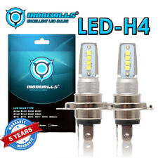 2× H4 HS1 9003 12V 55W LED COB 6000K White Motorcycle Hi/Lo Beam Headlight Bulb