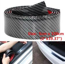 5CM*1M Carbon Fiber Car Door Sill Scuff Plate Cover Anti Scratch 3D Sticker