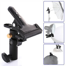 Studio Swivel Light Stand Reflector Background Umbrella Holder Strong Clamp 5/8""
