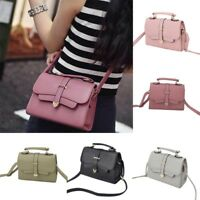 Women Shoulder Bag PU Leather Satchel Handbag Lady Girl Messenger Crossbody Bags