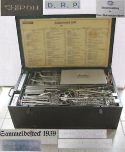 WWII 1939 GERMAN LARGE MEDICAL SURGICAL TOOLS SET CHIRON SAMMELBESTECK XTR RARE