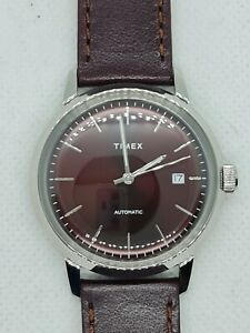 Timex Marlin Red/Burgundy Dial Automatic Watch Sold Out TW2T23200