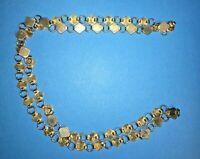 "Vintage long 28"" silver plate link necklace southwest style"