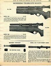 1964 Print Ad of Mossberg 2M4 4M4 Telescope Sight 1A25 C-Lect-Power Rifle Scope