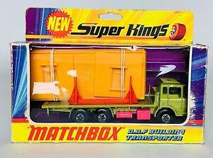 Vintage Matchbox SuperKings K-13 DAF Building Transporter