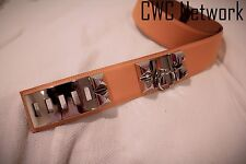 BNIB Hermes Jaune D'or Collier de Chien CDC Belt with Silver Hardware GHW 80 #P