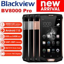 "NEU! Blackview BV8000 Pro 5.0"" 4G Handy 6+64GB Android 7.0 16+8MP Waterproof DE"