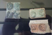 Collection of 3used blocks British India Victoria stamp 1882 special cancilation