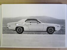 """1972 Plymouth Satellite Sebring side view 12 X 18"""" Black & White PICTURE"""