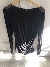 Alexander McQueen Black Long Sleeve Top Size IT 42/UK 10/12