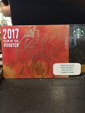 """Starbucks Thailand Card 2017 """"Year of the Rooster""""Chinese New Year 2017"""