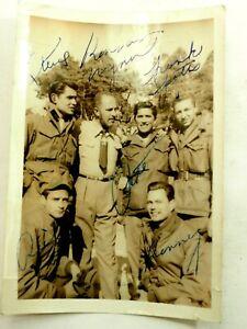 Autographed The Four Joes Army Doo-Wop Band &Keenan Wynn  B&W Photo