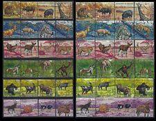 BURUNDI 1971 WILDLIFE ANIMALS Sc#355-60 c145-c151 COMPLETE VFU SET 0466