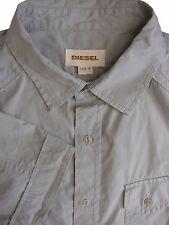 DIESEL Shirt Mens 16 M Grey SHORT SLEEVE