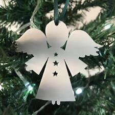 Angel Stars Xmas Decs & Ribbon, Pack of 10, Mocha, Light Grey, Graphite, Latte