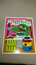Vintage Oscar the grouch, muddy's stand, wooden puzzle, playskool