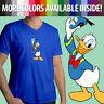 Walt Disney Donald Duck Classic Cartoon Disneyland Cute Mens Tee V-Neck T-Shirt