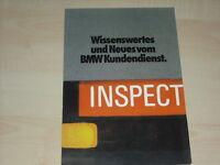 62921) BMW - Neues vom Kundendienst - Prospekt 07/1981