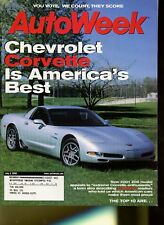 AutoWeek Magazine July 3, 2000 Chevrolet Corvette Z06, Ford Focus ZX3