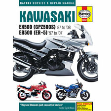 Kawasaki EX500 GPZ500S ER500 ER-5 1987-2008 Haynes Workshop Manual