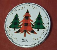 KEEPSAKE TIN - See's Candies - Round Cookie Candy Container - Pristine Condition