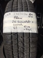 195/55/16 Pirelli Snowsport Winter 87H Part Worn Tyre 6.3mm Run Flat