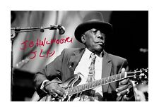 More details for john lee hooker 2 a4 reproduction autograph poster with choice of frame