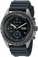 Fossil Chrono Sport 54 Gray Silicone Strap Watch 44mm Men's Watch CH3063 NEW