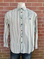 Tommy Bahamas Men's Striped Dress Shirt Size Medium