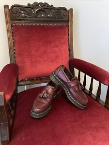 Doc Dr. Martens Adrian Tassel Loafer Shoes Cherry Smooth Leather like new, 38, 7