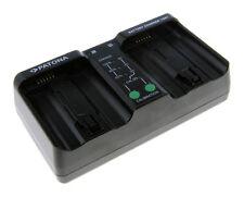PATONA Dual Ladegerät f. EN-EL18 EN-EL4 LP-E4 BA-T10 BA-T20 MH-26