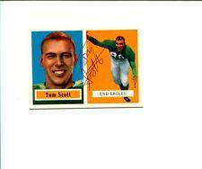 Tom Scott Philadelphia Eagles Virginia Cavaliers HOF Signed Autograph Photo Card