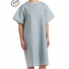 HOSPITAL PATIENT GOWN MEDICAL EXAM ECONOMY GRADE COMFORTABLE NEW GOWNS - 4 PACK