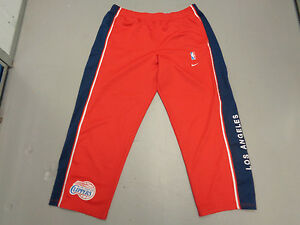 VINTAGE NIKE LOS ANGELES CLIPPERS XL SEWN WARM-UP 1983 RETRO/THROWBACK RED PANTS