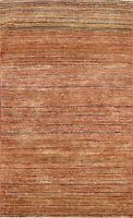 3x5 Striped Modern Gabbeh Area Rug Hand-knotted Wool Foyer Oriental Carpet NEW