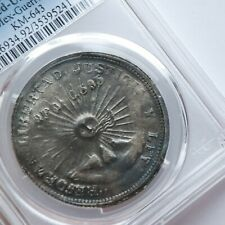 PCGS 1914-GRO Mexico Guerrero Cleaned UNC Detail Two Pesos Silver / Gold Coin