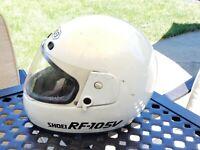 Vintahe SHOEI RF-105V FULL FACE MOTORCYCLE HELMET white Large 7 3/8 - 7 1/2