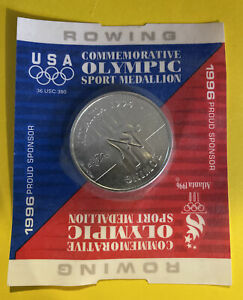 1996 USA Olympic Commemorative Collectors Coin Sport Medallion - Rowing- Sealed