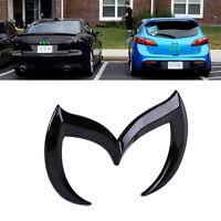 Car 3D Metal Black Bat Front Rear M Emblem Logo Badge Sticker Decal For Mazda
