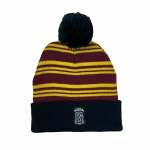 Harry Potter Knitted Burgandy Gryffindor Beanie One Size Pre-Loved