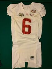 Alabama Crimson Tide Game Worn Jersey SEC 75th Patch Independence BOWL #6 STAMPS