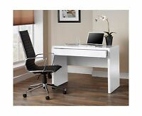 High Gloss White Desk Office Computer Table Home Workstation Student Furniture
