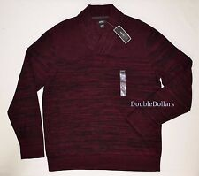 $69.50 Alfani Men's Elory Textured Port Combo XL Shawl-Collar Pullover Sweater