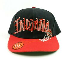 VTG 90s Indiana University IU Basketball Spell Out Snapback Hat College
