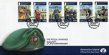 Ascension Island 2014 FDC Royal Marines 350th Ann 6v Set Cover Gallipoli Stamps