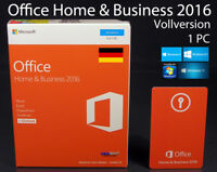 Microsoft Office Home & Business 2016 P2 Vollversion Box 1 PC 32/64-Bit OVP NEU