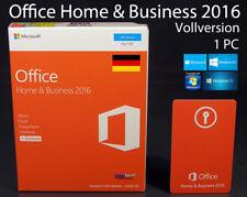 Microsoft Office Home & Business 2016 p2 VERSIONE COMPLETA BOX 1 PC 32/64-bit OVP NUOVO