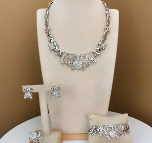 Hugs and Kisses I Love You X Heart 14k White & Gold Necklace Set Separate Pieces