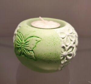 Tealight Holder Lantern Green Ceramic Butterfly Flower Tealight Decor Spring