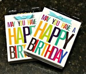 Two Give A Gift Card Holder Boxes May You Have A Happy Birthday 3.5 x 4.5 inches
